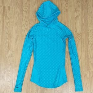 [Under Armour] teal graphic cold gear hoodie Small